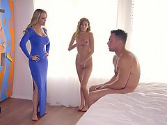 Threesome, Threesome, Boyfriend, Teen, Stepmom