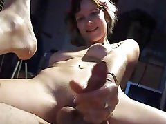 Amateur, Close Up, Cumshot, Handjob