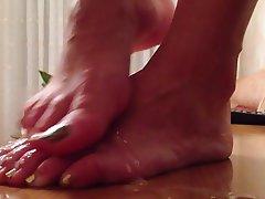 Amateur, Cumshot, Foot Fetish