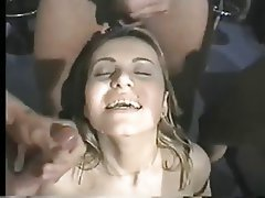 Big Boobs, Brunette, Double Penetration, Facial